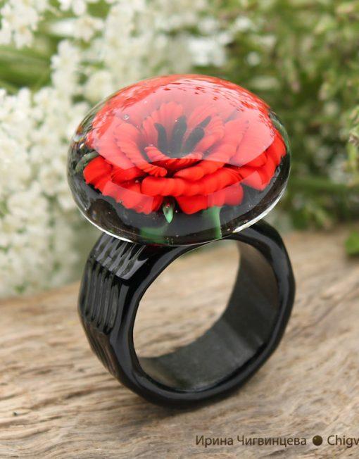 poppy ring big