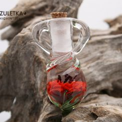 Red poppy bottle