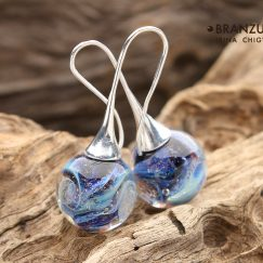 Galaxy earrings ball