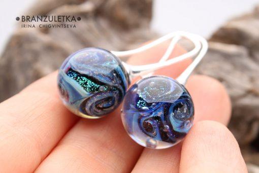 Galaxy earrings ball